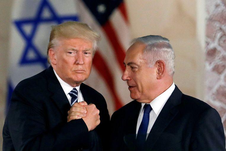 Amerikaans president Donald Trump en Israëlische premier Benjamin Netanyahu.