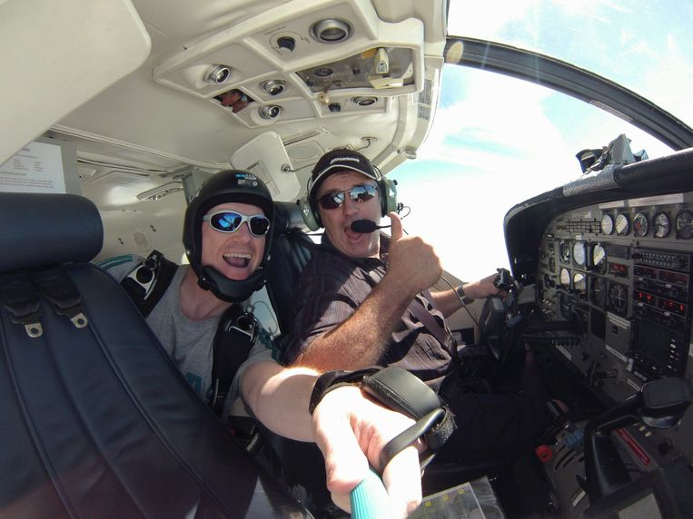 Piloot Dave Ibbotson (rechts), die met het vliegtuigje vloog dat Emiliano Sala aan boord had.
