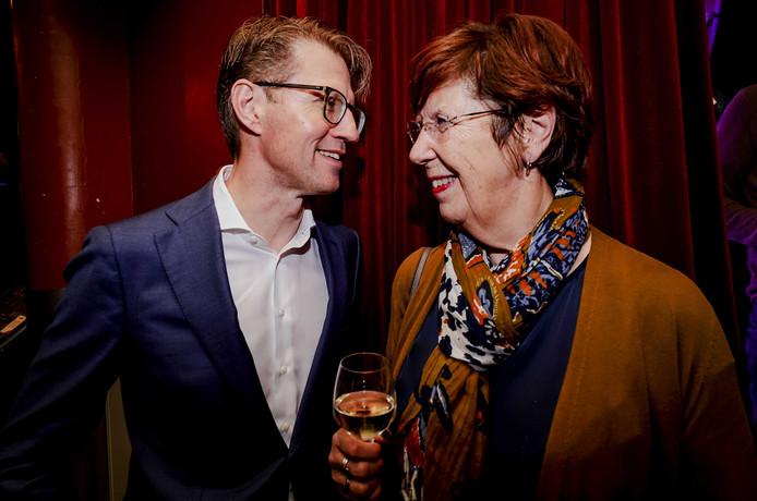 Minister Sander Dekker voor Rechtsbescherming en lijsttrekker Annemarie Jorritsma van de VVD