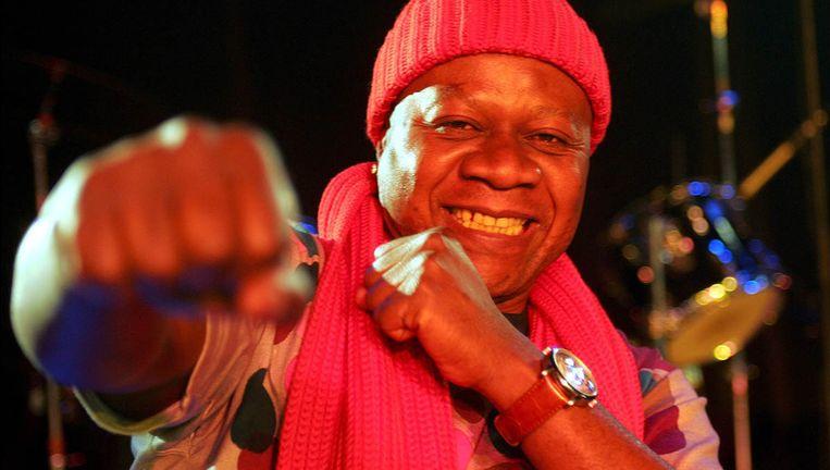 De Afrikaanse artiest Papa Wemba in 2004.