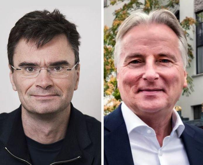 Loek van Wely (links) nam afstand van Thierry Baudet en voegde zich in de Eerste Kamer bij de afsplitsers. Hans Smolders (rechts) verdedigde Baudet juist. Samen zitten ze in de Brabantse fractie die - lekker helder - nog wel Forum is en toch ook weer niet.