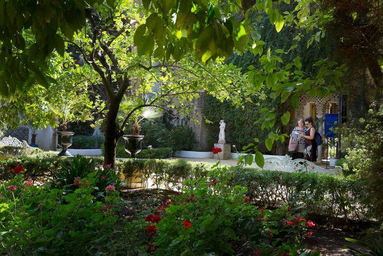 Een binnentuin van het Palacio de las Dueñas. Beeld Io Cooman