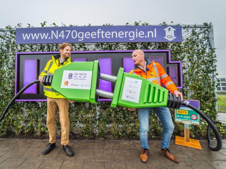Zeventien kilometer duurzame weg met eigen energie: N470 vanaf vandaag open