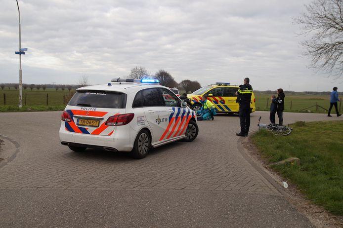 Aanrijding op de Tuinbouwweg in Vlijmen.