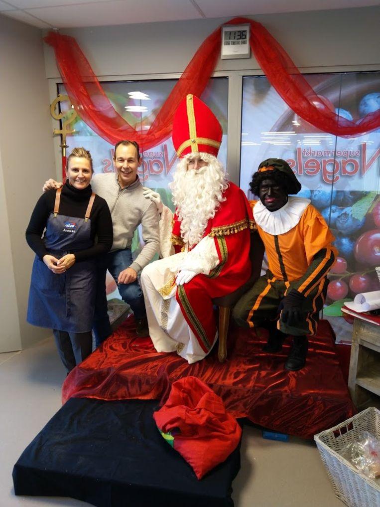 Kurt en Anneke hadden voor de Sint een gezellig plekje voorzien