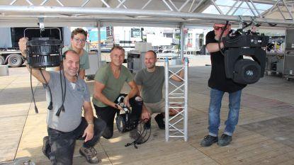 Opbouw Ronse Opscène is volop aan de gang: podium krijgt nieuwe schikking