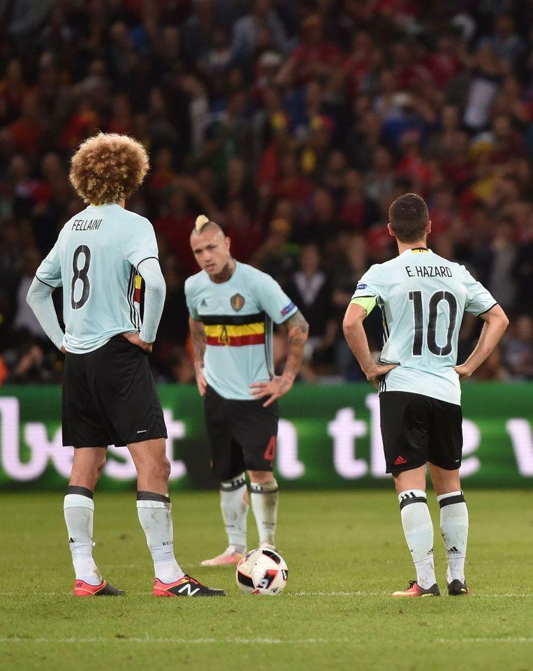 De Belgische droom is aan diggelen. Wales was beter, 3-1. Beeld afp