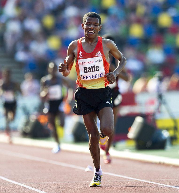Atleet Haile Gebrselassie. Beeld null