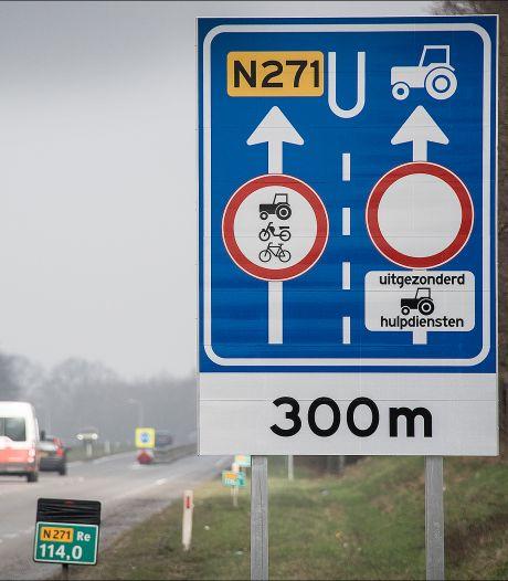 Dat wordt weer tractors inhalen op de N271 bij Gennep: speciale rijstrook voor langzaam verkeer verdwijnt