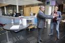 FNV-voorzitter Han Busker (links) vertrekt volgend jaar. 'Tweede man' Tuur Elzinga denkt na over een kandidatuur.
