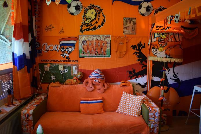 Veel oranje bij Kitty thuis