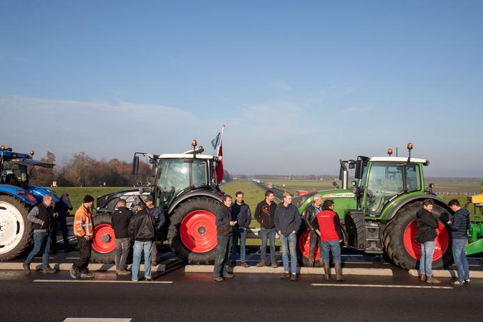 Protesterende boeren tijdens een eerdere actie van Farmers Defence Force.