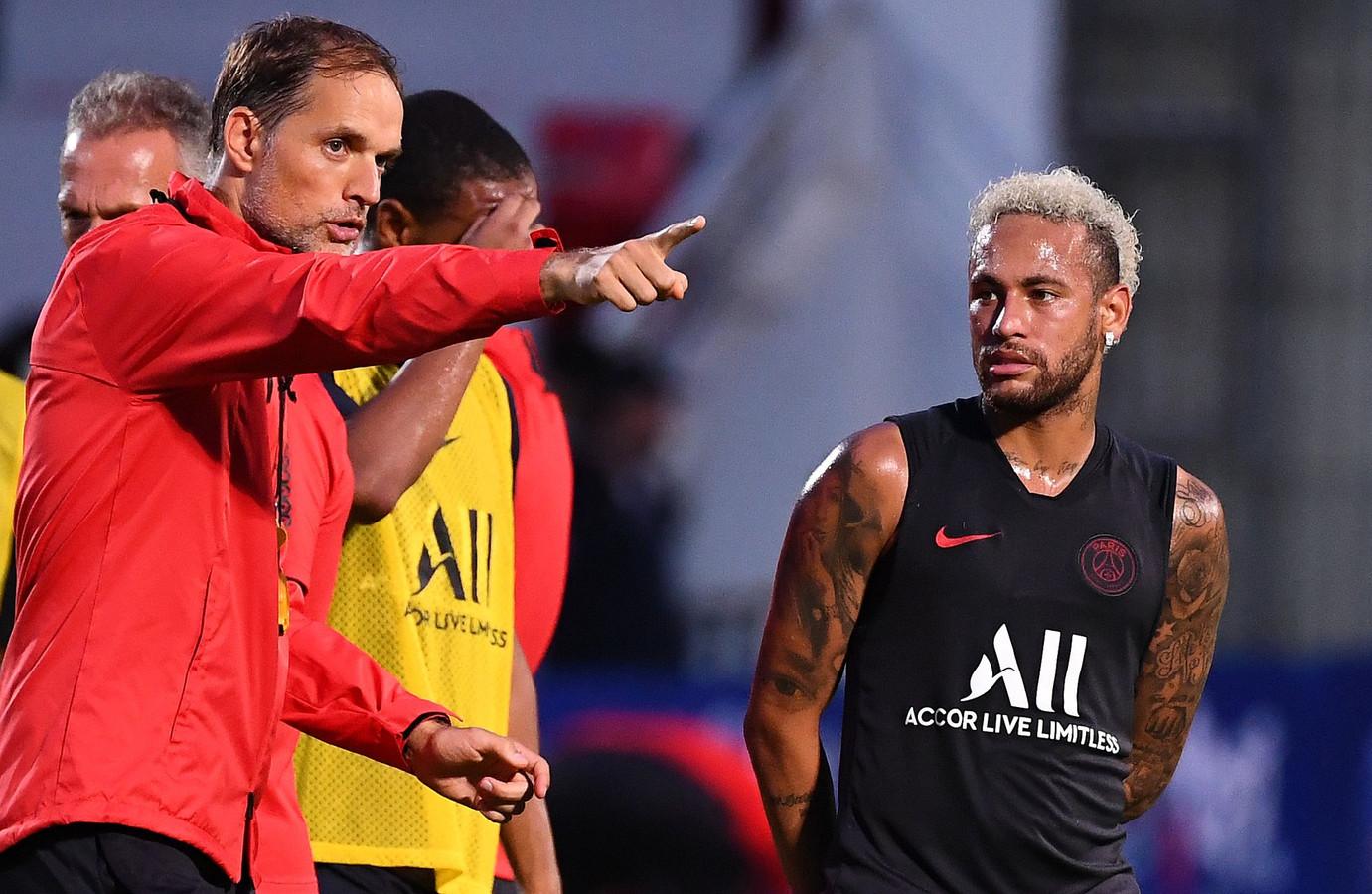 Thomas Tuchel en Neymar