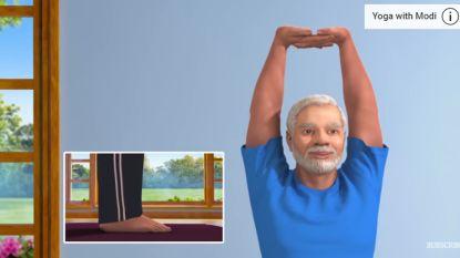 Krijg thuis yogales van Indiase eerst premier