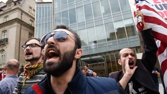 Journalisten in de clinch met entourage Erdogan in Washington