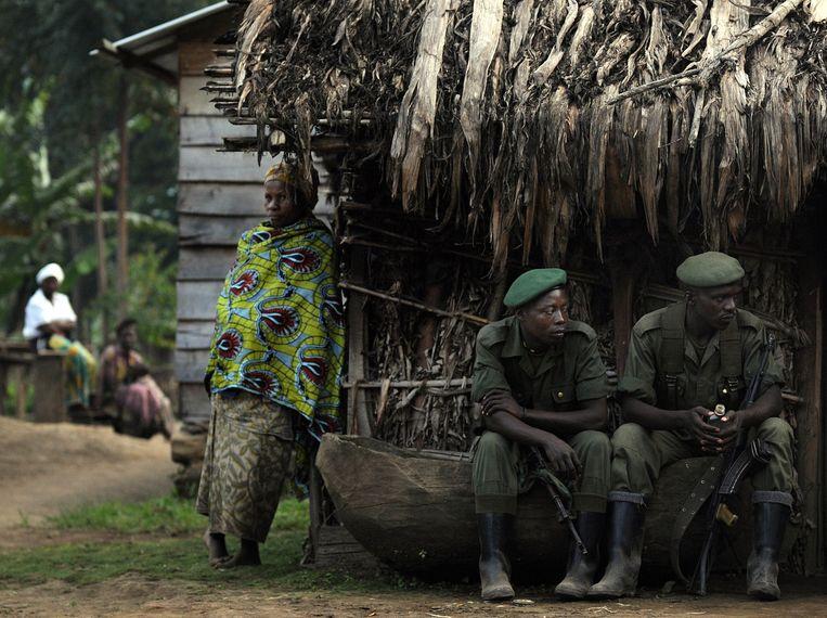 Soldaten van FDLR in de Democratische Republiek Congo. Beeld AFP