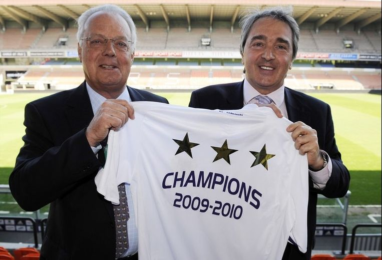 Roger Vanden Stock met manager Herman Van Holsbeeck.