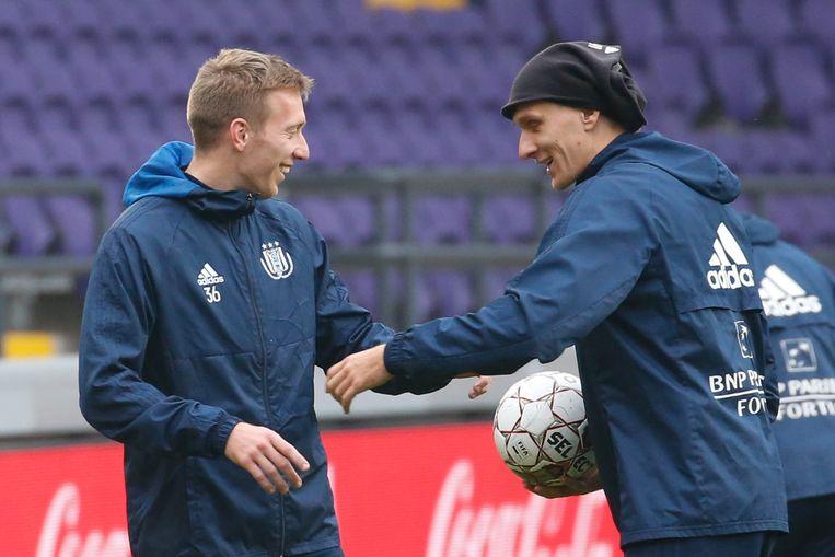 Beric met Teodorczyk gisteren op training.