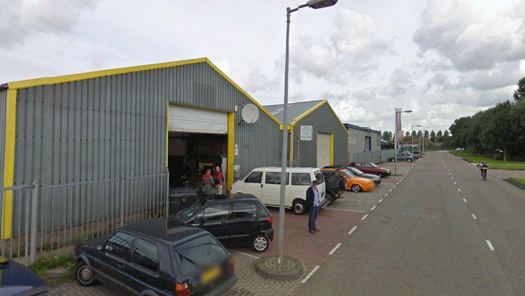 Autobedrijf Germany Cars op bedrijventerrein de Heining in Amsterdam Westpoort Beeld Google Maps