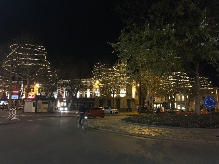 Kerstverlichting in de stad