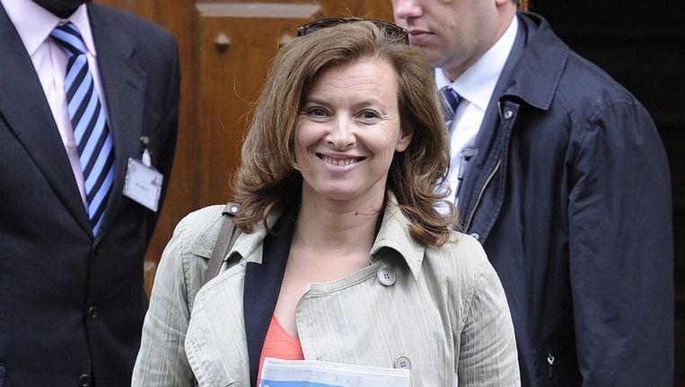Valérie Trierweiler, de vriendin van Hollande. Beeld epa