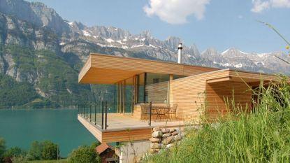 De bewoners van deze moderne Zwitserse chalet ontwaken elke dag met een adembenemend uitzicht