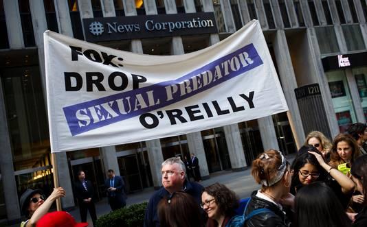 Er waren demonstraties tegen Bill O'Reilly.