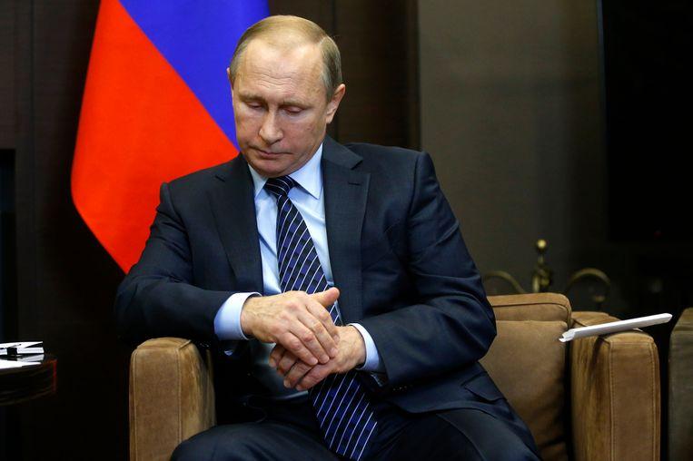 Russische president Vladimir Poetin Beeld ap
