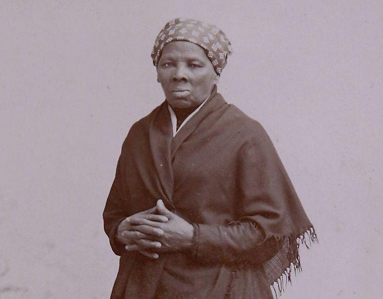 Een foto van Harriet Tubman van rond het jaar 1885.