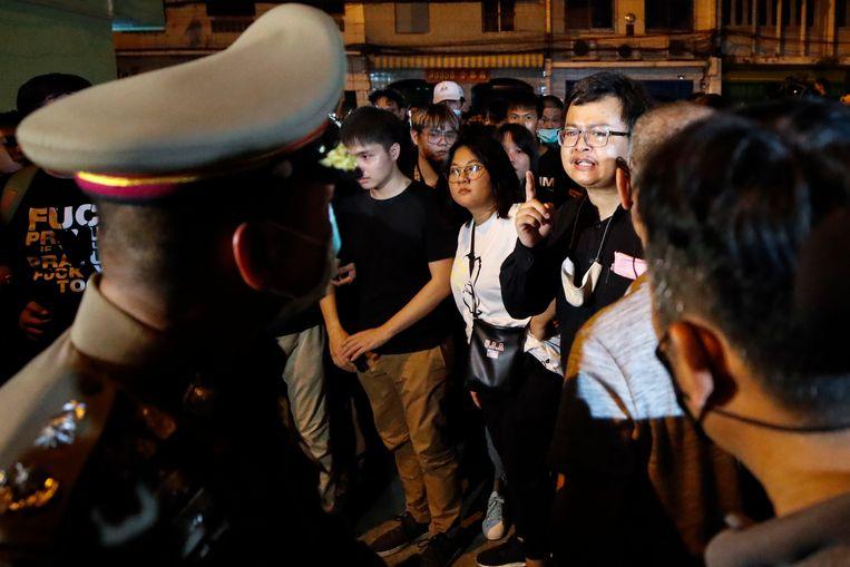 De advocaat en activist Anon Nampa groeide uit tot een van de belangrijkste gezichten van demonstraties in Thailand. Beeld EPA