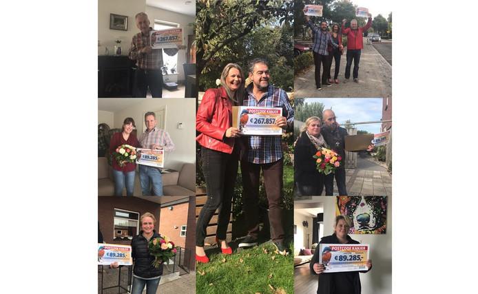 Alle gelukkige winnaars van de Postcodeloterij straatprijs in Wouwse Plantage