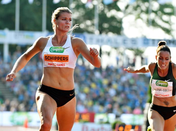Dafne Schippers wint 200 meter op de FBK Games.