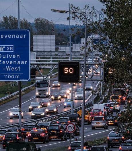 Duitse vakantievierders zorgen voor drukte op A12