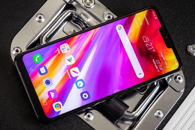 LG G7 ThinQ; het nieuwe model zou een vergelijkbaar ontwerp hebben.
