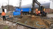 Waterleiding lek geslagen op Boerenmarkt