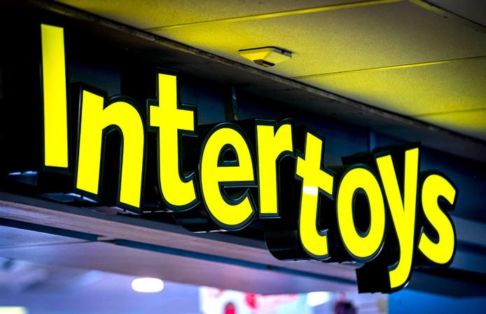 Logo van de speelgoedwinkel Intertoys.