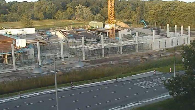 Beelden van de bouw van het Prinses Maxima Centrum. Beeld webcam Prinses Maxima Centrum