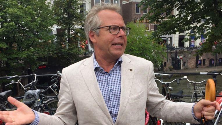 Huib Lubbers: `Wie zich echt zorgen maakt, logt nooit in op gratis wifi met Facebook.' Beeld