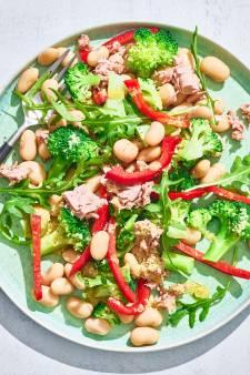 Wat Eten We Vandaag: Maaltijdsalade van limabonen, tonijn en paprika