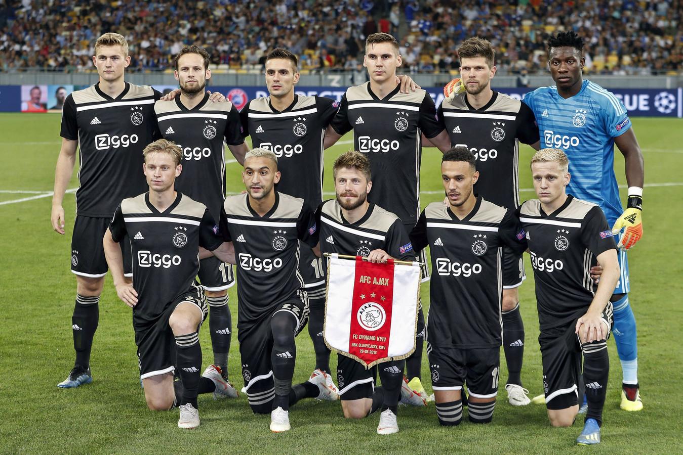 De basiself van Ajax voor de uitwedstrijd tegen Dinamo Kiev (0-0) van dinsdagavond.