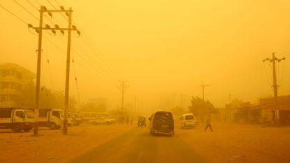Van zó'n zandstorm schrikken ze zelfs in Soedan