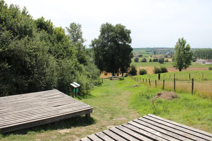 De kampeerplaats in Schamperij.