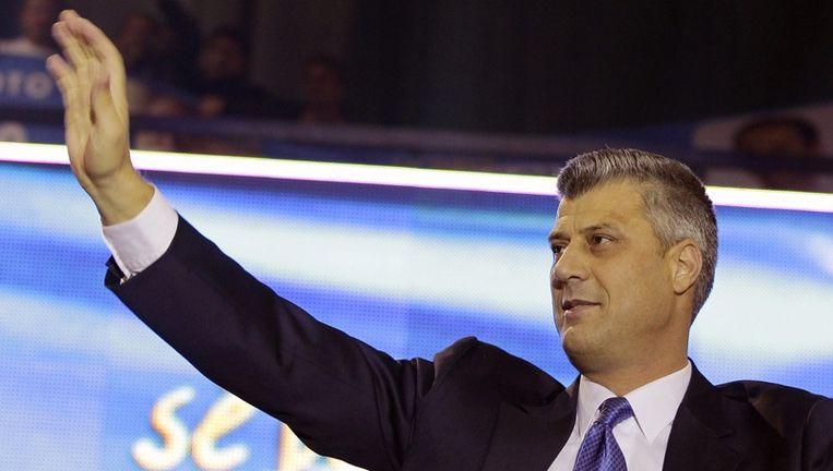 De Kosovaarse premier Hashim Thaçi. Beeld epa