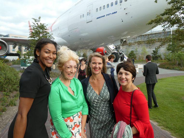 Marina Gase (Pearlcard), Saskia Exterkate (The white office), Hilda Hofkamp (Johan Cruijff Arena) en Janette Visser (Renata Magazine).