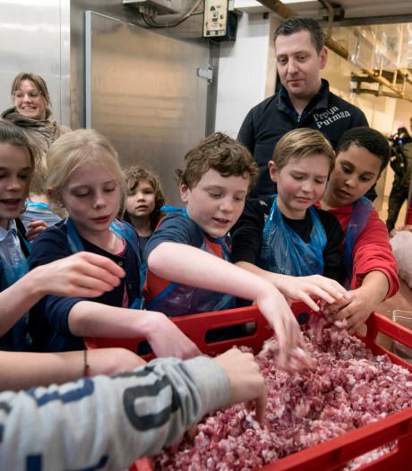 Scholieren maken worst van lieve Arnhemse varkentjes