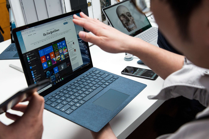 Een Microsoft Surface Laptop.