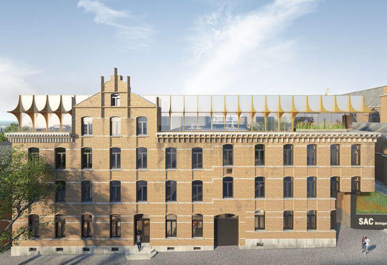 Het nieuwe stadhuis van Beringen.