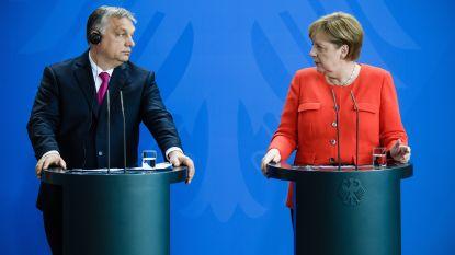 """Merkel beklemtoont """"verschil in visie"""" na ontmoeting met Orban"""