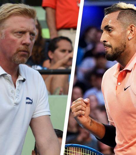 """Violent clash entre Boris Becker et Nick Kyrgios sur Twitter: """"Je n'aime pas les rats"""""""