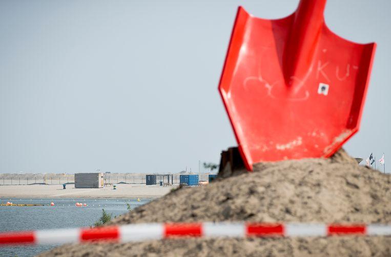 Het strand bij IJburg. Beeld Hollandse Hoogte /  ANP
